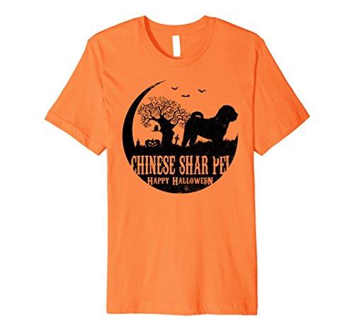 Shar Pei Halloween Costumes (Mens CHINESE SHAR PEI Dog Halloween Costume T-shirts Small Orange)