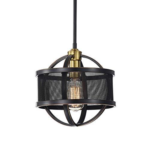 lndustrial Vintage Style Pendant Lighting Drum Bronze Chandelier Island Light Dining Room Lights