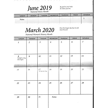 pocket calendar 2 year 2019 20 planner 1 datebook