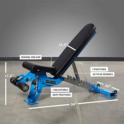 Rep Adjustable Bench - AB-3000 FID - 1,000 lb Rated - Flat/Incline/Decline - Blue