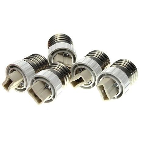 5 x adaptadores de casquillos E27 a G9 para bombillas LED