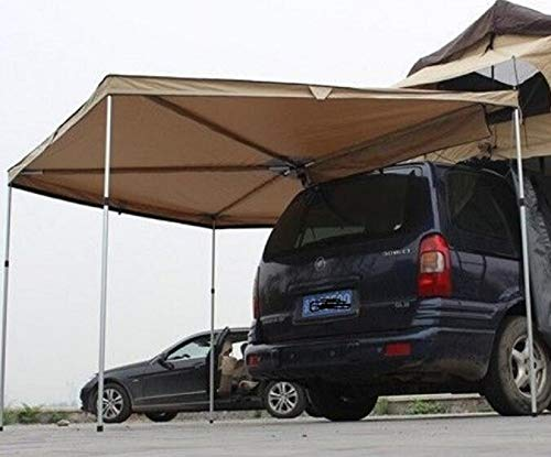 DANCHEL OUTDOOR 270 Degree Sector Shaped car Side foxwing Awning (Khaki, Dia. 8.2ft Left) by DANCHEL OUTDOOR (Image #2)
