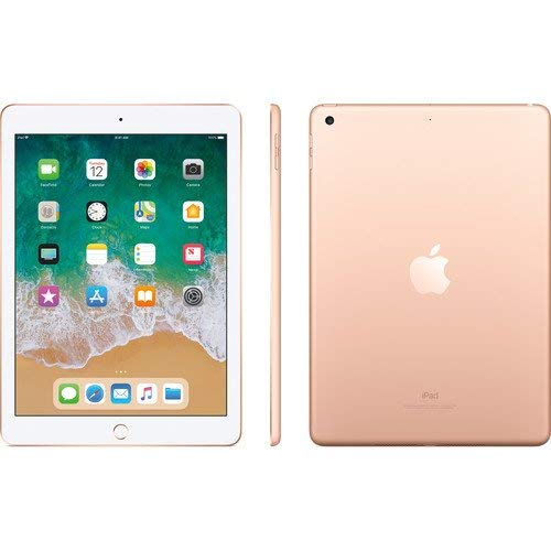 Apple 9.7in iPad (6th Generation, 128GB, Wi-Fi + 4G LTE, Gold) (Renewed)