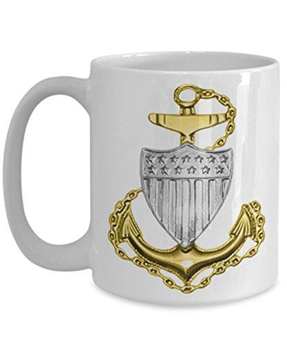 Coast Guard Mug (Coast Guard Coffee Mug - Chief Petty Officer (CPO) - Gift for USCG Chief Petty Officer)