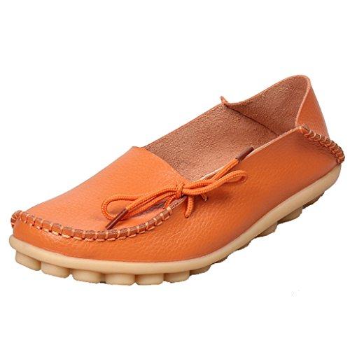 SIMPVALE - Sandalias con cuña mujer naranja