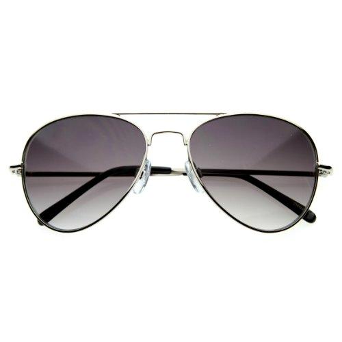 - zeroUV - Small Frame Women Aviator Sunglasses for Small Faces 50 mm (Silver)