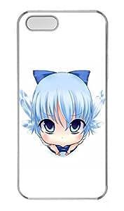 iPhone 5 5S Case Cute Blue Cartoon Girl PC Custom iPhone 5 5S Case Cover Transparent