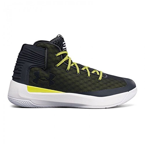 Under Armour Men's Curry 3Zero Basketball Shoe Stealth Grey/White Size 9 M US