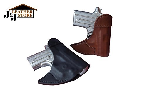J&J Custom Fit SIG SAUER P365 SUBCOMPACT Formed Front Pocket Style Premium Leather Holster (BROWN) ()