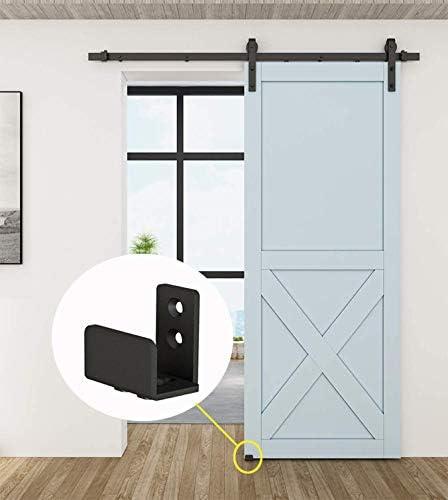 Barn Door Floor Roller Guide Black Adjustable Heavy Duty Hardware Floor Guide
