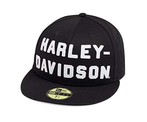 - Harley-Davidson Official Men's Felt Letter 59FIFTY Cap, Black (Large)