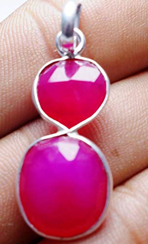 15.5CtsPink Chalcedony13mm-15mmPendant Fashion Jewelry