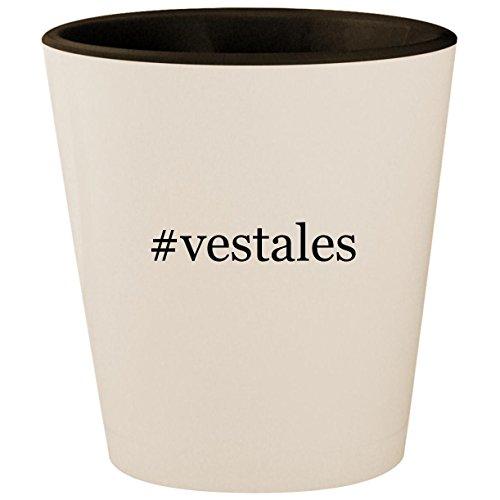 #vestales - Hashtag White Outer & Black Inner Ceramic 1.5oz Shot Glass