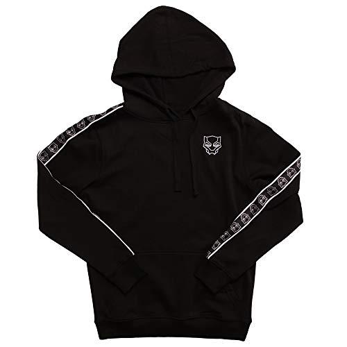 Marvel Black Panther Logo Hoodie with Sleeve Detail - Black (Medium) ()