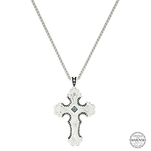 Montana Silver Plated Plates (Silhouette Cross Necklace (NC3502GPT))