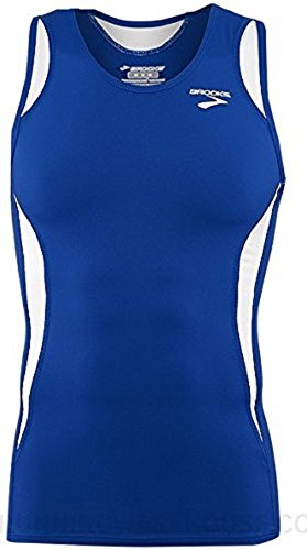 Brooks Athletic Sprinters Sleeveless Top - Royal Blue/White - (Brooks Mens Shirt)