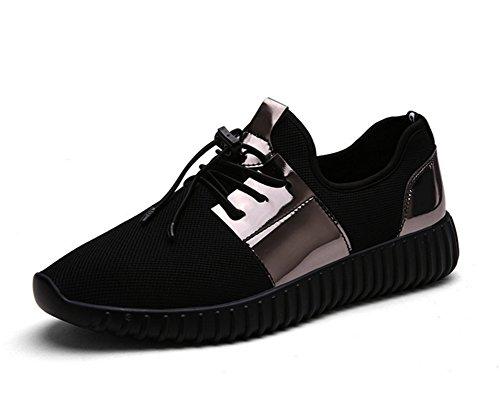 Femme Hommes Marée 45 Légère Air Casual Maille Noir 35 Plein Course Couple En Chaussures Respirant De Xie 0px4Ot