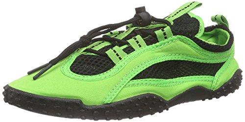 Playshoes Badeschuhe, Aquaschuhe, Surfschuhe Neonfarben - Zapatillas Unisex Adulto Verde - Grün (Grün 29)