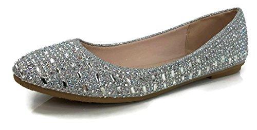 Silver Rhinestone Shoes - 4