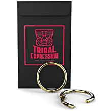 "PROFESSIONAL ASTM-F136 CERTIFIED TITANIUM - Nose, Septum & Ear Piercing Jewelry Ring by TRIBAL EXPRESSION. True Hypoallergenic IMPLANT GRADE Exceeds Surgical Steel. SNAP-LOCK Design & LIFETIME WARRANTY on seamless hinge. Sizing: Ring Size = Ring Diameter. 5/16""=8mm, 3/8""=10mm"