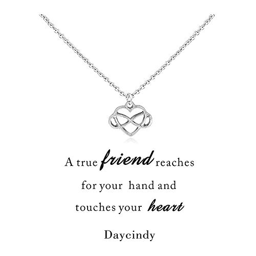Daycindy Cross Heart Friendship Necklace for Women, -