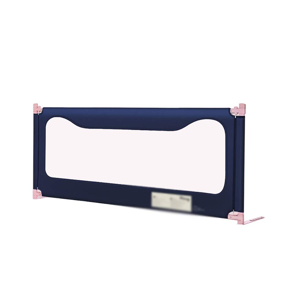 ベッドフェンス フルサイズベッドガードレールベッドレール折り畳みダブルクイーンフェンスキッズガールズボーイズの高さ調節可能な70から80センチメートル、青 (サイズ さいず : Length 180cm) Length 180cm  B07JZ3FYYN