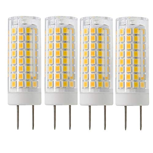 G8 Led Bulb, 75W Halogen Bulb Replacement, SYX Dimmable 7W G8 Led Lamps, G8 Bi-pin Base Bulb, AC120V 720lm, Under Cabinet Counter Light, Kitchen Lighting and Puck Lights, 4 Pack (Warm White)
