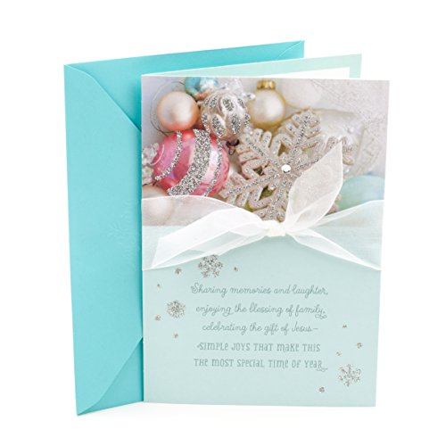 DaySpring Christmas Greeting Card to Sister (Ornaments and Snowflakes)