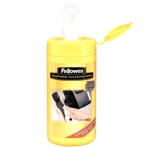 Fellowes 99722 Telephone Cleaning Wipes (99722) - Telephone Premoistened Wipes