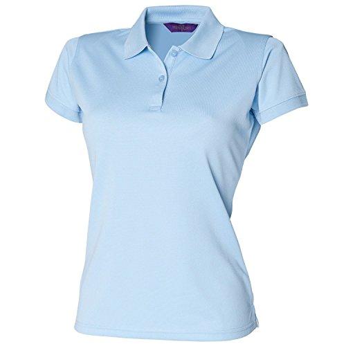 Henbury coolplus®-Polo da donna, taglia XXL, colore: blu chiaro
