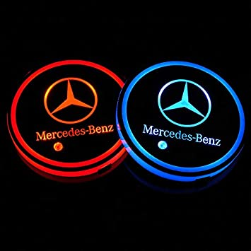 Mitsubishi Bearfire 2.75 Inch Diameter Oval Tough Car Logo Vehicle Travel Auto Cup Holder Insert Coaster Can 2 Pcs Pack
