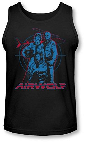 Airwolf nero uomo per Graphic Tank top rW0pxqrZf