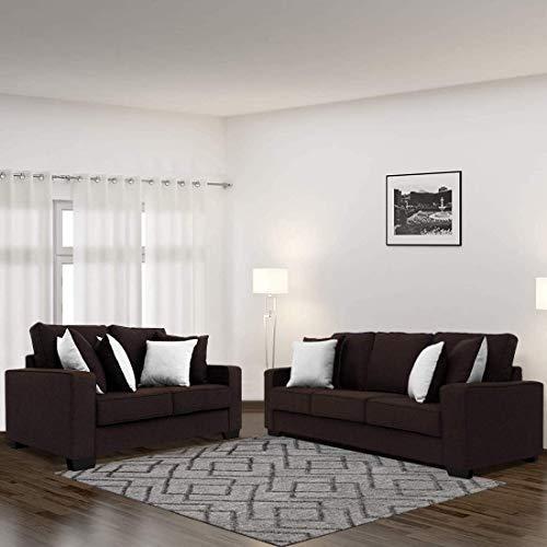 Furny Apollo Fabric 5 Seater 3+2 Sofa Set  Brown