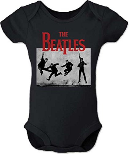 THE BEATLES JUMP PHOTO ONESIE (12M), Black (Beatles Shirt Baby)