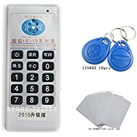 Handheld 125Khz-13.56MHZ RFID Copier Duplicator Cloner ID/IC card reader & writer + 10pcs 125KHZ +2pcs 13.56MHZ cards