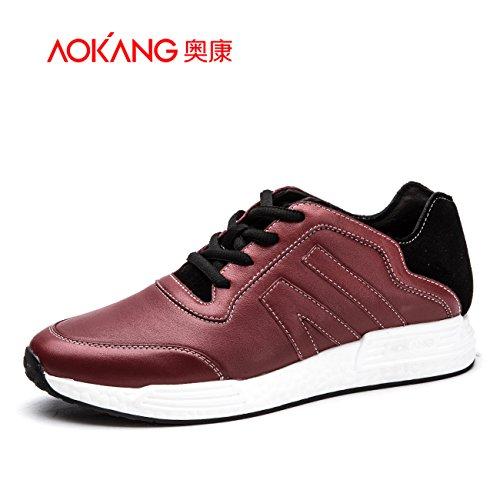Aemember scarpe da uomo comoda tracolla traspirante sports wear ammortizzante scarpe Scarpe, Scarpe Casual ,42, Rosso