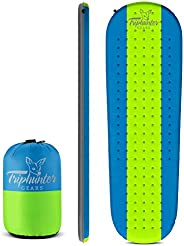 Quiet Self Inflating Sleeping Pad for Camping Backpacking Traveling and Hiking - Comfortable Sleeping Even for