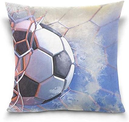 shizh Balón de fútbol Goal Net Blue Sky Funda de Almohada ...