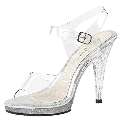 Heels-Perfect Sandalias de Vestir de Material Sintético Para Mujer transparente