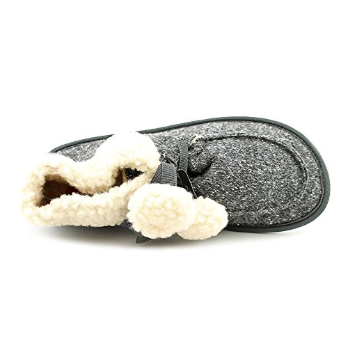 Black Round Rocket Slipper Snowdrop Mitten Toe Dog Women Canvas qxgxA81