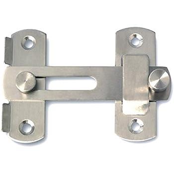 Amazon Com Tough 1 Spring Loaded Gate Latch Silver