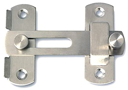 6a7d3f28421c Alise MS9001 Stainless Steel Flip Latch Gate Latches Bar Latch Safety Door  Lock