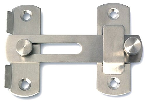 Alise MS9001 Stainless Steel Flip Latch Gate Latches Bar Latch Safety Door Lock,Brushed Finish ()
