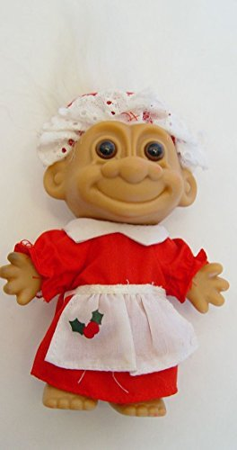 Russ Berrie Vintage White Haired Mrs. Santa Claus Troll Doll 5
