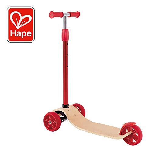 Hape Street Surfer | Wooden Lightweight 3 Wheel Kids Push Scooter for Kids