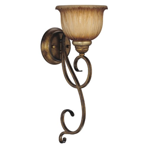 Minka Lavery 5960-243, Raffine Torchiere Glass Wall Sconce Lighting, 1LT, 100w, Raffine (Minka Lavery Torchiere)