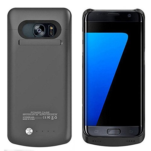 Arc Samsung Galaxy S7 External Battery Backup Case Charger Power Bank 4200mAh Stand Black