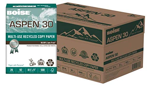 - BOISE ASPEN 30% Recycled Multi-Use Copy Paper, 8.5