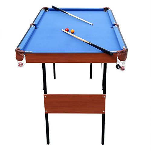 Hlc 55 folding space saver pool billiard table sporting - Space needed for pool table ...