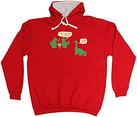Funny Novelty Hoodie Hoody hooded Top Oh Great Who Invited The Herbivore